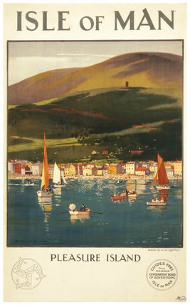 'Isle of Man  - Pleasure Island', poster, 1923-1947.