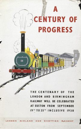 'A Century of Progres', LMS centenary poster, 1938.