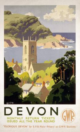 'Devon', GWR poster, c 1930s.