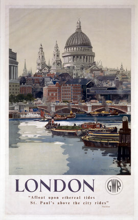 'London', GWR poster, 1923-1947.