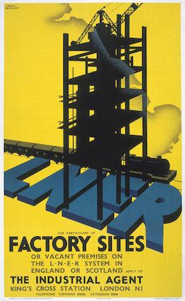 'Factory Sites', LNER poster, 1923-1947.