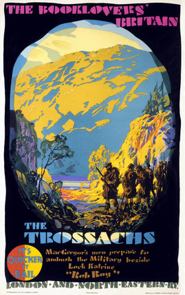 'The Booklovers' Britain: The Trosachs', LNER poster, 1927.