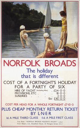'Norfolk Broads', LNER poster, 1930s.