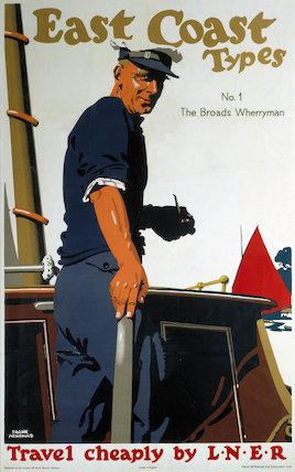'The Broads Wherryman', LNER poster, 1931.
