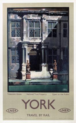 'Treasurer's House, York', LNER poster, 1923-1947.