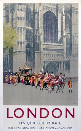 'Lord Mayor's Coach', LNER poster, 1923-1947.