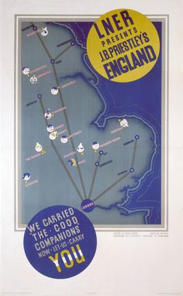 'J B Priestley's England', LNER poster, 1923-1947.