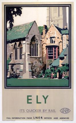 'Ely: Prior Crauden's Chapel', LNER poster, 1923-1947.