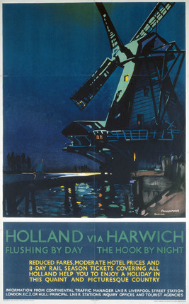 'Holland via Harwich', LNER poster, 1932.