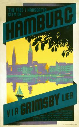 'Hamburg via Grimsby', LNER poster, c 1930s