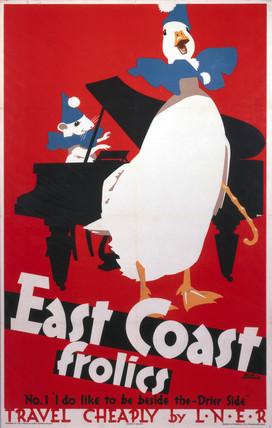 'East Coast Frolics', LNER poster, 1933.