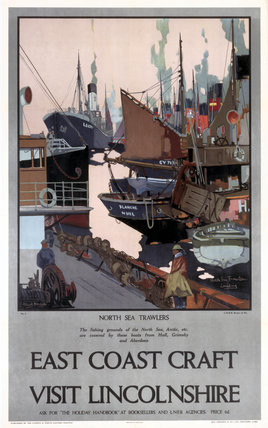 'East Coast Craft - Visit Lincolnshire', LNER poster, 1923-1947.