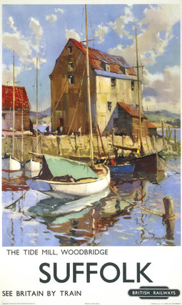 'The Tide Mill, Woodbridge, Suffolk', BR poster, c 1950s.