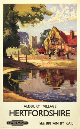 'Hertfordshire - Aldbury Village', 1949. Br