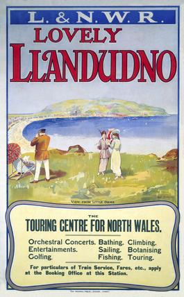 'Lovely Llandudno', L&NWR poster, c 1910.