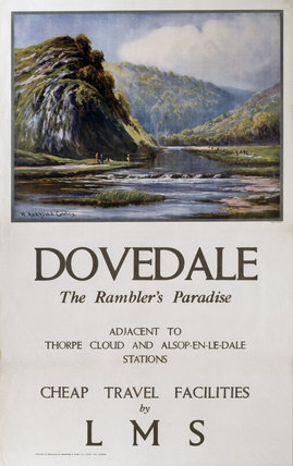 LMS poster. Dovedale - The Rambler's Paradi