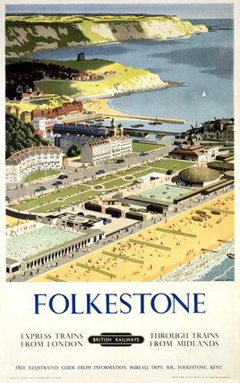 BR(SR) poster. Folkestone by Ronald Lampitt