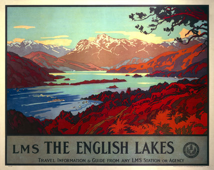 'The English Lakes', LMS poster, 1923-1947.