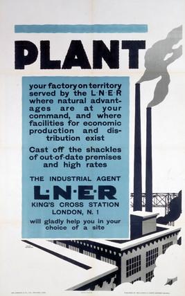 'Plant', LNER poster, 1923-1947.
