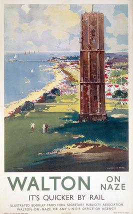 'Walton-on-Naze', LNER poster c 1930.