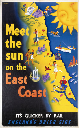 'Meet the Sun on the East Coast', LNER poster, 1939.
