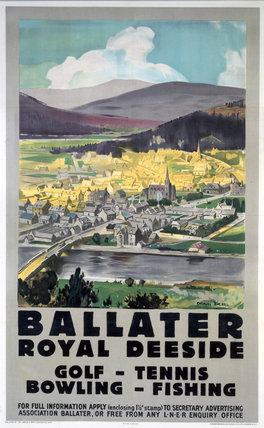 'Ballater - Royal Deeside', LNER poster, 1923-1947.