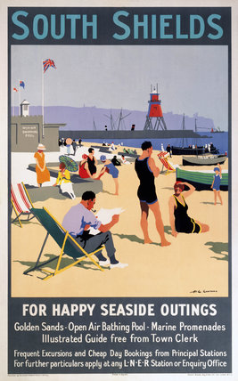 South Shields railway poster (NRM / Pictorial Collection / Science & Society)