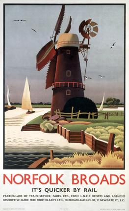 'Norfolk Broads', LNER poster, 1939.