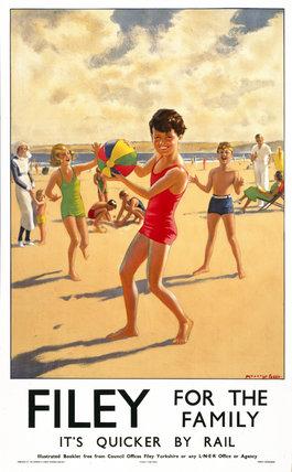 'Filey', LNER poster, 1923-1947.