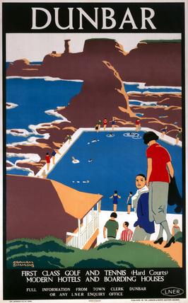 'Dunbar', LNER poster, 1923-1947.