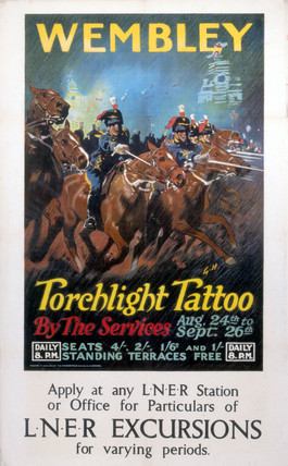 'Wembley - Torchlight Tattoo', LNER poster, c 1924.