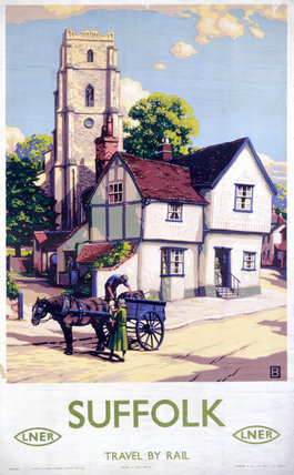 'Suffolk', LNER poster, 1923-1947.