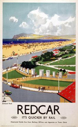'Zetland Park, Redcar', LNER poster, 1941.
