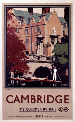 'St John's, Cambridge', LNER poster, 1923-1947.