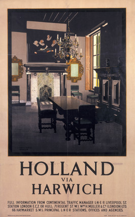 'Holland via Harwich', LNER poster, 1923-1947.