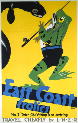 'East Coast Frolics, No 3', LNER poster, 1933.