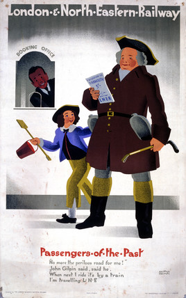 'Pasengers of the Past', LNER poster, 1929.