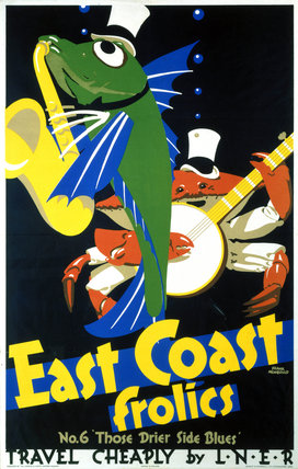 'East Coast Frolics, No 6', LNER poster, 1933.