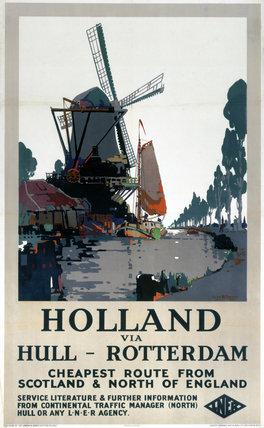 'Holland via Hull - Rotterdam', LNER poster, c 1920s.