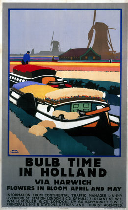 'Bulb Time in Holland', LNER poster, 1929.
