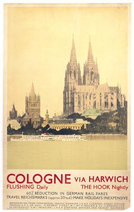 'Cologne via Harwich', LNER poster, 1925.
