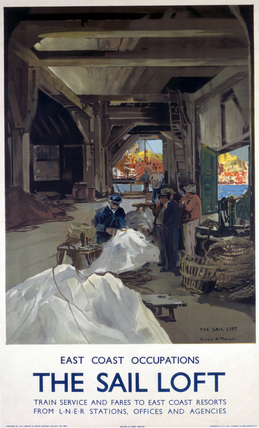'The Sail Loft', LNER poster, 1923-1947.