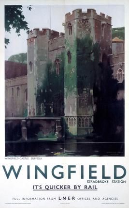 'Wingfield Castle', LNER poster, 1923-1947.