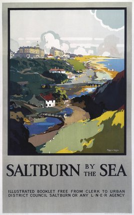 'Saltburn-by-the-Sea', LNER poster, 1923-1945.
