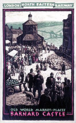 Barnard Castle, LNER poster, c 1930s.