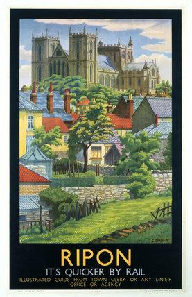 'Ripon', LNER poster, c 1930.