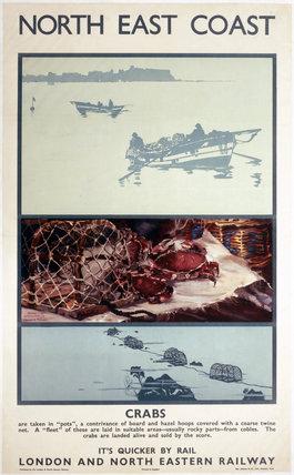 'North East Coast - Crabs', LNER poster, 1933.