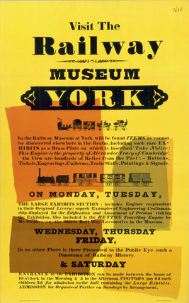 'Visit the Railway Museum', BR poster, 1960.