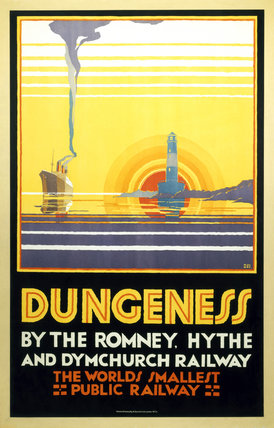 'Dungeness', Romney, Hythe and Dymchurch Railway poster, 1928.