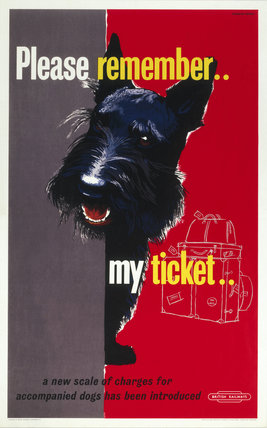 'Please Remember my Ticket', BR poster, c 1950s.
